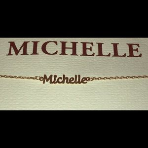 "Jewelry - Customized ""Michelle"" Nameplate Bracelet"